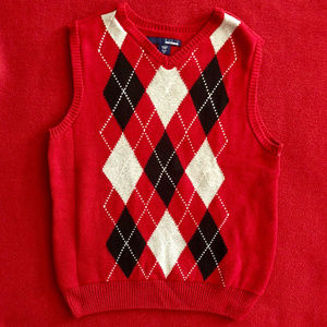 Classic argyle sweater vest